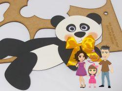 G365    Gabarito de Moldes em MDF Urso Panda deitado