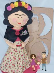 BO10   Gabarito Boneca Frida Kahlo