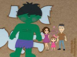 G548  Gabarito de moldes O Incrível  Hulk