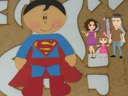 HER08    Gabarito de moldes  Super Homem