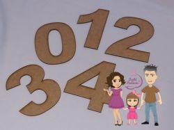 ALF08 Molde números 0 a 9 fonte Arial Black  - 13cm