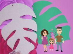 NAT09  Gabarito de moldes Folha Gigante 1 - Costela de Adão