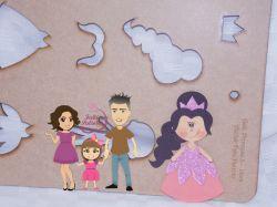 PRI03   Gabarito de moldes Princesa 3- 15cm
