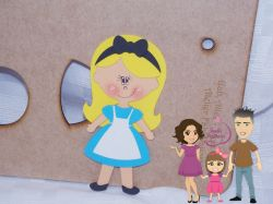PRI04   Gabarito de Moldes  Princesa Alice – 15cm