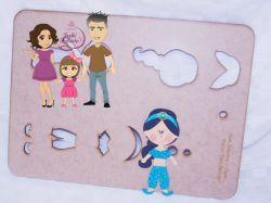 PRI06   Gabarito de moldes Princesa Jasmine – 15cm