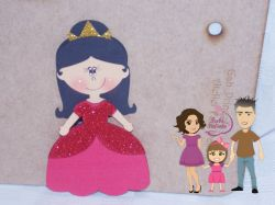 PRI08   Gabarito de Moldes  Princesa 1 – 20 cm