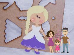 PRI09   Gabarito de Moldes Princesa 2 – 20 cm