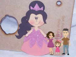 PRI10    Gabarito de Moldes  Princesa 3- 20cm