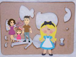 PRI11   Gabarito de Moldes Princesa Alice – 20 cm