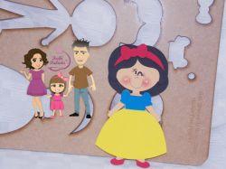 PRI12   Gabarito de Moldes  Princesa Branca de Neve – 20 cm
