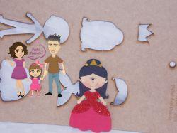 PRI15   Gabarito de moldes Kit Princesas 15cm