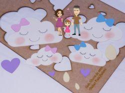 CHU01   Gabarito de Moldes  Chuva de Amor 1
