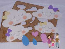 CHU02   Gabarito de Moldes em MDF Chuva de Amor 2