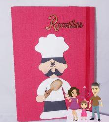 COZ09     Gabarito Cozinheiro Caderno de Receitas