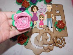 NAT14  Gabarito de Moldes Trio Flores enroladas 1