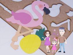 G382   Gabarito de Moldes Flamingo 30cm