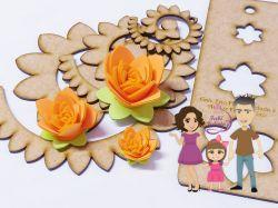 NAT15   Gabarito de Moldes trio flores enroladas 2
