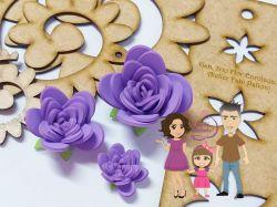 NAT18   Gabarito de Moldes Trio Flores Enroladas 3