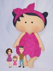 BO41   Gabarito de Moldes Tilda Baby 42cm