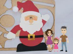 NATAL24  Gabarito de Moldes Papai  Noel Plano