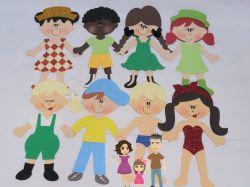 BO48   Gabarito de Moldes em MDF Kit  Crianças Di Paes