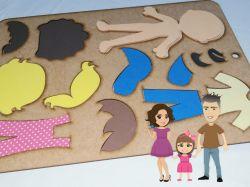 BO49   Gabarito de Moldes em MDF   Crianças Di Paes  - Molde Universal