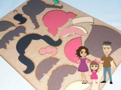BO50   Gabarito de Moldes em MDF   Crianças Di Paes  - Cabelos
