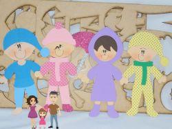 BO51   Gabarito de Moldes em MDF   Crianças Di Paes  - Roupas de Inverno