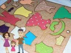 BO52  Gabarito de Moldes em MDF   Crianças Di Paes  - Roupas  e sapatos
