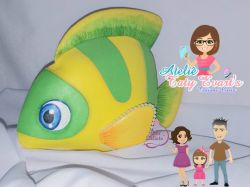 G415   Gabarito de moldes  Peixe - Fundo do Mar Baby Cut - By Tatiane Costa