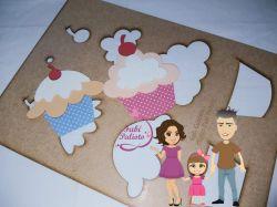COZ01  Gabarito de Moldes em Cupcake 1