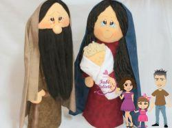 NATAL25  Gabarito de Moldes em MDF Maria , José e Jesus   Presépio  - Com Passo a Passo