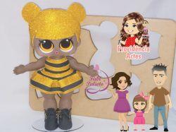 BO59   Gabarito de Moldes em MDF Kit Boneca Queen Bee  - Juliana Farias