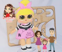 G277  Gabarito de Moldes em MDF Kit Boneca Lol Sis Swing  - Juliana Farias