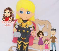 HER14   Coleção Heróis  Juliana Farias - Gabarito de Moldes em MDF Kit Thor