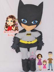 HER18  Coleção Heróis  Juliana Farias - Gabarito de Moldes em MDF Kit Batman