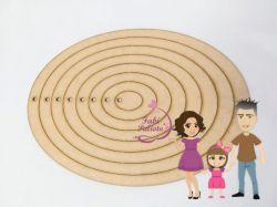 MOL30  Gabarito de moldes  Moldura Oval