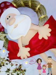 NATAL18    Gabarito de Moldes em MDF Papai Noel Pelado