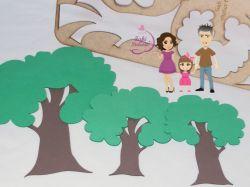 ESC25  Gabarito de moldes em MDF  Árvores