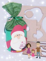 G491   Gabarito de Moldes em MDF Porta Presente Papai Noel