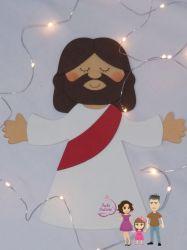 BO71  Gabarito de Moldes em MDF  Jesus 25cm