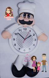G620  Gabarito de moldes Kit Cozinheiro -  Relógios Juliana Farias