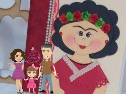BO78  Gabarito de Moldes em MDF  Frida Kahlo Caderno grande