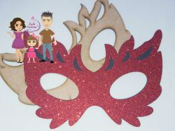 MAS04  Gabarito de Moldes Mascara Carnaval 4