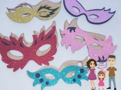 MAS06  Gabarito de Moldes Kit Mascaras Carnaval