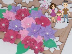 NAT26   Gabarito de Moldes em MDF Flores 3