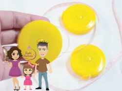 DI39  Fita Métrica  Amarela retrátil circular 150cm