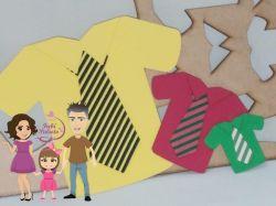 AC64   Gabarito de Moldes em MDF Camisas do Papai
