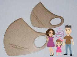 MOL39   Gabarito de moldes Máscaras Infantil e Adulto sem elástico