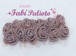 DI25 Mini rosas em EVA Marrom